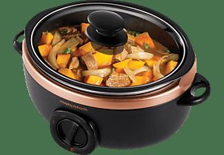 MORPHY RICHARDS 460016 Sear & Stew Slow Cooker Rosegold/Schwarz (Rührschüsselkapazität: 3,5 Liter, 240 Watt)
