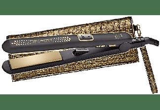 Plancha de pelo - Rowenta SF6021 Ultimate Gold Revestimiento cerámico titanium, Temperatura