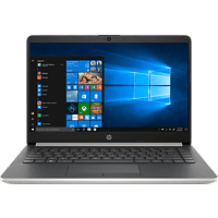 HP 14-dk0304ng, Notebook mit 14 Zoll Display, AMD Athlon Prozessor, 4 GB RAM, 128 GB SSD, Radeon Vega 3, Silbergrau