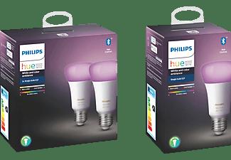 PHILIPS Hue White & Col. Amb. 3-er Pack Bluetooth LED Leuchtmittel Mehrfarbig