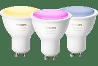 PHILIPS Hue White & Col. Amb. GU10 3-er Pack  LED Leuchtmittel, Weiß