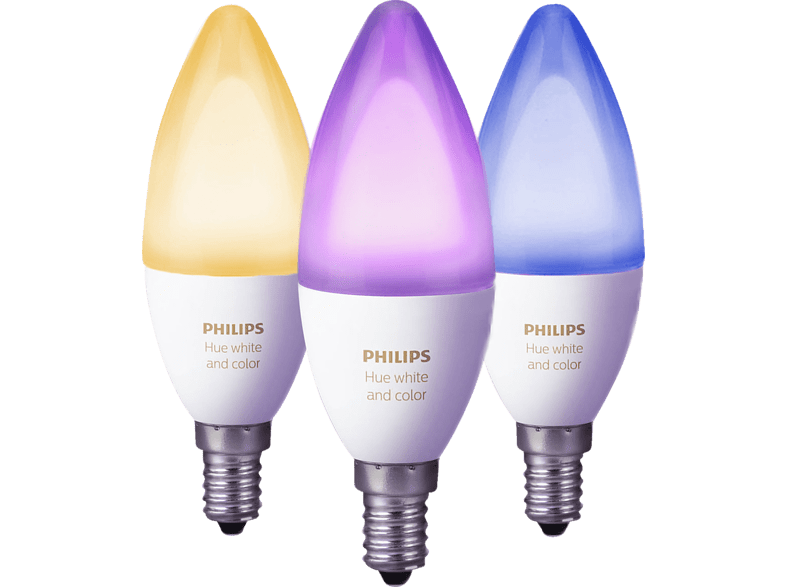 Media Markt: 3er Pack Philips Hue E14 White & Color Ambiance