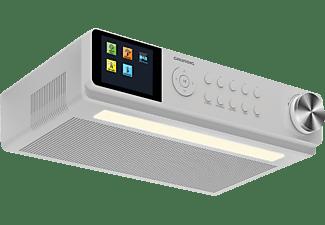 GRUNDIG DKR 3000 BT DAB+ WEB Radio, Internet Radio, DAB+, FM, Bluetooth, Weiss