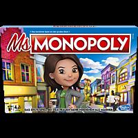HASBRO Ms. Monopoly Brettspiel, Mehrfarbig