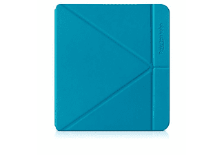 Funda eReader -  KOBO Libra H2O, Tipo libro, Multiposición, Piel sintética, Azul
