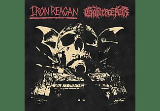 IRON REAGAN, GATECREEPER - SPLIT (BLACK/+MP3)  - (Vinyl)