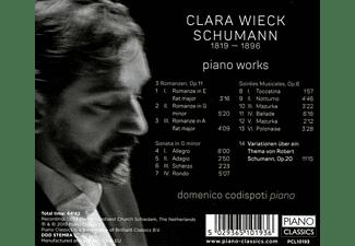 Domenico Codispoti - CLARA WIECK SCHUMANN: PIANO WORKS  - (CD)