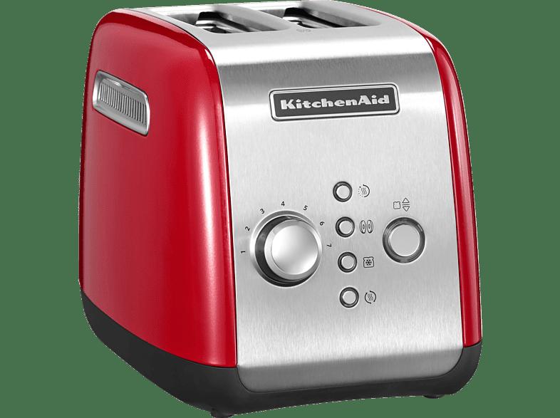 KITCHENAID 5KMT221EER Toaster Rot 1100 Watt, Schlitze 2