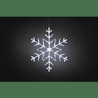 KONSTSMIDE LED Acryl Schneeflocke, 60 LED Leuchtdekoration,  Transparent,  Kaltweiß
