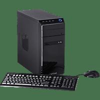 CAPTIVA Gaming I48-619, Gaming PC, Celeron® Prozessor, 8 GB RAM, 240 GB SSD, 1 TB HDD, Radeon™ RX 550, Schwarz