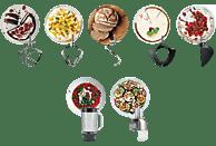 KENWOOD KVC7350S Chef Titanium  Küchenmaschine inkl. 6 Zubehörteile Silber 1500 Watt