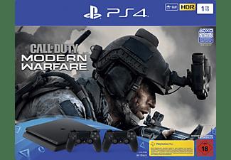 SONY PS4 1TB Jet Black + 2 Controller - Call of Duty: Modern Warfare Bundle