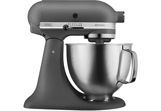 KITCHEN AID Küchenmaschine 5 KSM 156 HBEGR ARTISAN MATTE GREY & BRUSHED BOWL