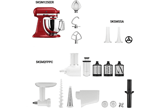KITCHENAID Bundlecourmeter 5-tgl. Gourmet-Bundle 5KSM125EER, 5KSM2FPPC, 5KSMSSA  Küchenmaschine+ Zubehör-Set