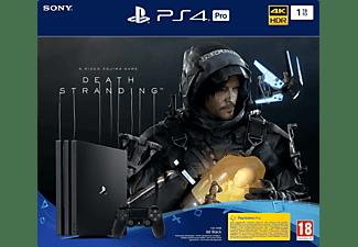 PLAYSTATION PS4 Pro 1 TB Death Stranding Bundle Noir