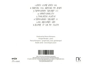 Petros Klampanis - Irrationalities  - (CD)