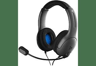 Auriculares gaming - PDP Gaming LVL40, Para PS4, Diadema, Micrófono, Cancelación de ruido, Gris