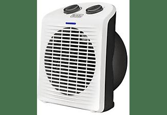 Calefactor - Black & Decker BXSH200E, Para baño, Termoventilador, 2000W, Blanco