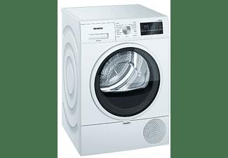 Secadora - Siemens WT47R461ES, Bomba de calor, 8 kg, Display LED, Tambor de acero, Blanco