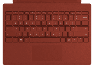 MICROSOFT Surface Pro Signature Type Cover - Tastatur (Mohnrot)