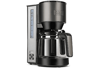 Cafetera de goteo - Black + Decker BXCO1000E, Soft Filling, Anti-goteo, Programable, 1000W, 1.25 L, 10 tazas