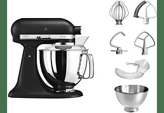 KITCHENAID 5KSM175PSEBK Küchenmaschine Gusseisen Schwarz (Rührschüsselkapazität: 4,8 Liter, 300 Watt)