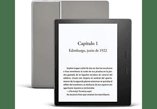 "eReader - Amazon Kindle Oasis, 8 GB, 7"", 300 ppp, 25 LED, Resistencia al agua, Rotación pantalla, Negro"
