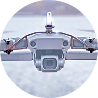 ROBOTERWERK SELFIE Mavic: LED-Scheinwerfer für DJI Mavic Pro, Mavic 2, Mavic 2 Enterprise - 45 Lumen, neigbar Scheinwerfer für Drohnen