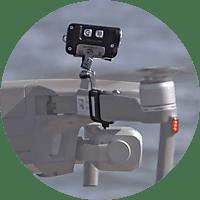 ROBOTERWERK M.O.N.A. Mavic: LED-Scheinwerfer für DJI Mavic Pro, Mavic 2, Mavic 2 Enterprise - 380 Lumen, neigbar Scheinwerfer für Drohnen