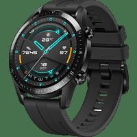 HUAWEI Watch GT 2 46mm Sport Smartwatch Fluorkautschuk, 140-210 mm, Schwarz