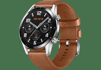 HUAWEI Watch GT 2 46mm Classic/Pebble Smartwatch Leder, 140-210 mm, Braun