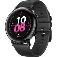 HUAWEI Watch GT 2 42mm Sport Smartwatch Fluorkautschuk, 130-200 mm, Schwarz
