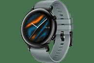HUAWEI Watch GT 2 42mm Sport Smartwatch Fluorkautschuk, 130-200 mm, Blaugrau