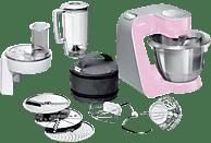 BOSCH MUM58K20 CreationLine Küchenmaschine Gentle Pink/Silber (Rührschüsselkapazität: 3,9 Liter, 1000 Watt)