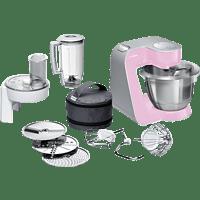 BOSCH MUM58K20 CreationLine Küchenmaschine Gentle Pink/Silber 1000 Watt