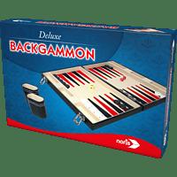 NORIS Deluxe Backgammon im Koffer Gesellschaftsspiel, Mehrfarbig
