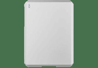 LACIE Mobile Drive USB-C Festplatte, 2 TB HDD, 2,5 Zoll, extern, Mond-Silber
