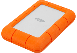 LACIE Rugged Mini, 2 TB HDD, 2,5 Zoll, extern, Silber/Orange