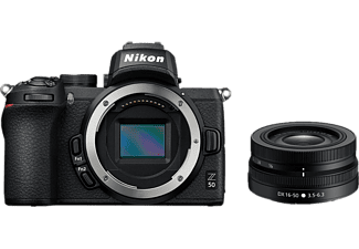 NIKON Z 50 Body + NIKKOR Z DX 16-50 mm 1:3.5-6.3 VR - Appareil photo à objectif interchangeable (Résolution photo effective: 20.9 MP) Noir