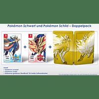 Pokemon Schwert und Schild Doppelpack inkl. Pokémon Figur [Nintendo Switch]