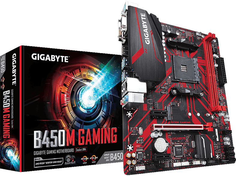 GIGABYTE B450M GAMING Mainboard Mehrfarbig