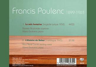 Daniela Mazzucato, Marco Scolastra - Poulenc:La Voix Humaine  - (CD)