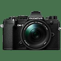 OLYMPUS OM-D E-M5 Mark III schwarz mit Objektiv M.Zuiko Digital ED 14-150mm F4-5.6 II (V207091BE000)