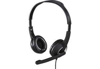 HAMA Essential HS 300 - PC-Headset (Kabelgebunden, Stereo, On-ear, Schwarz/Silber)