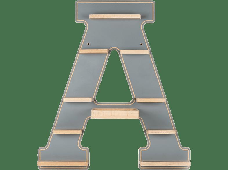 BOARTI Buchstabe A, grau Zubehör für Toniebox, Grau