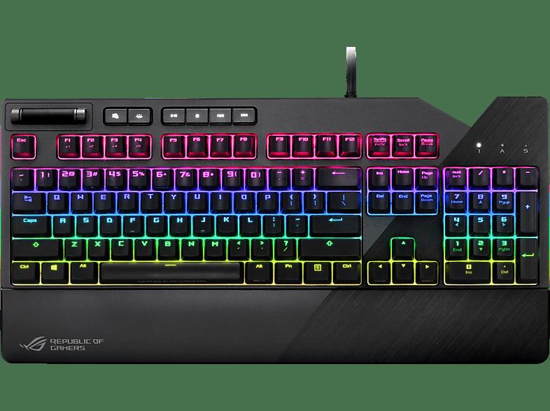 ASUS 90MP00M0-B0DA00 ROG STRIX FLARE ROT, Tastatur, Mechanisch, Cherry MX Red