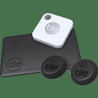 TILE Essentials (4-pack) (Slim 2, Mate+, 2x Sticker) Bluetooth Tracker