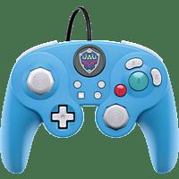 PDP LLC Wired Controller Smash Pad Pro Zelda für Nintendo Switch Controller, Blau