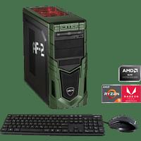 HYRICAN MILITARY GAMING 6435, Gaming PC mit Ryzen 5 Prozessor, 8 GB RAM, 480 GB SSD, Radeon RX Vega 11