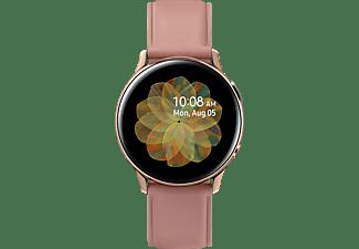 SAMSUNG Galaxy Watch Active2 Stainless Steel 40mm (LTE) GO Smartwatch Edelstahl Echtleder, S/M, Gold